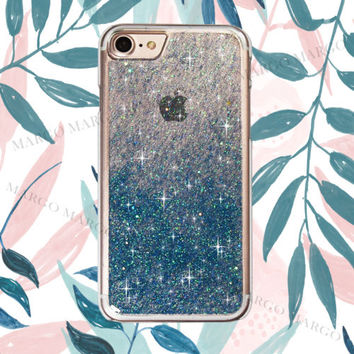 Luxury Bling Blue Real Glitter sparkle Hard Case Cover for iPhone Samsung Sony | eBay