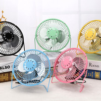 Rotatable Mini USB Fan Metal Portable Blower Rechargeable Mute Smart Home Appliances