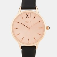 Oasis Classic Rose Gold Face Watch