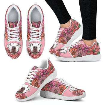 Illustrated Pit Bull Athletic Sneakers