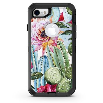 Vintage Watercolor Cactus Bloom - iPhone 7 or 8 OtterBox Case & Skin Kits