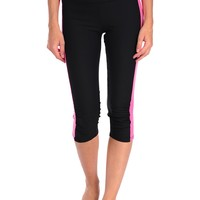 Be Up Rouched Capri - Black/pink