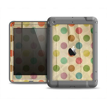 The Vintage Tan & Colored Polka Dots Apple iPad Air LifeProof Fre Case Skin Set