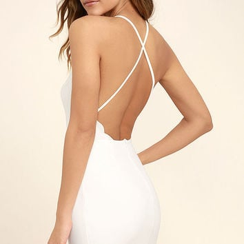 Heart's Content White Bodycon Dress