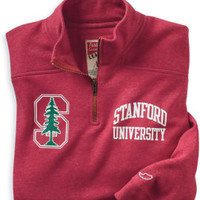 1304J Tri-Blend Quarter-Zip Fleece | Stanford University