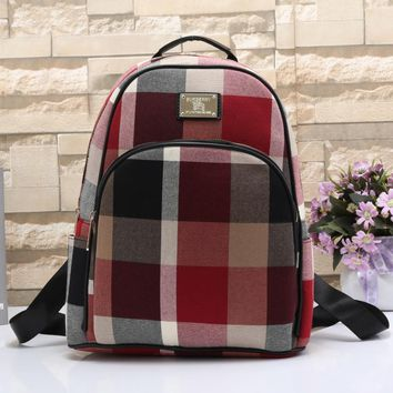 Tagre™ Burberry Women Leather Travel Bookbag Shoulder Bag Backpack