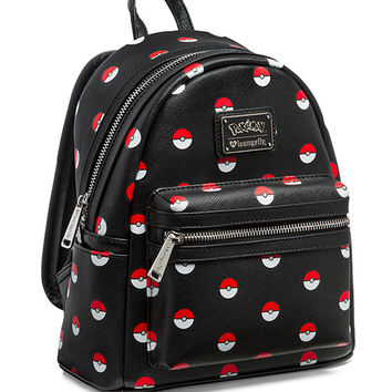 Pokémon Poké Ball Black Mini Backpack