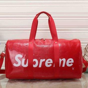 DCCK7HE Perfect Louis Vuitton x Supreme Women Leather Luggage Travel Bags Tote Handbag