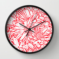 Daisy Daisy in Hello Ruby Wall Clock by Lisa Argyropoulos