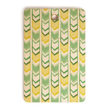 Heather Dutton Right Direction Lemon Lime Cutting Board Rectangle
