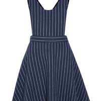 Pinstripe Pinafore Dress