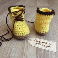 Crochet Baby Girl Woodsmen Boot - Baby Shower Gift