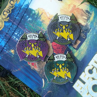 Spirit Guide Electric Forest Hat Pin [GLOW] *LIMITEDEDITION* Heady Hat Pins by : Eccentric Visuals