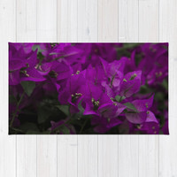 Bougainvillea. Flowers in the garden. Rug by VanessaGF
