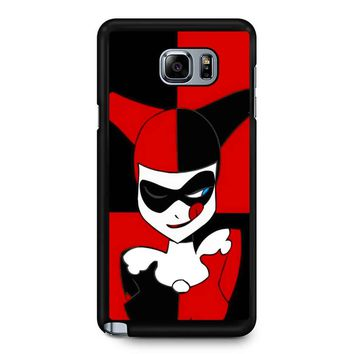 Harley Quinn Batman Joker Cute Face 2 Samsung Galaxy Note 5 Case