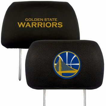 Golden State Warriors 2-Pack Auto Car Truck Embroidered Headrest Covers