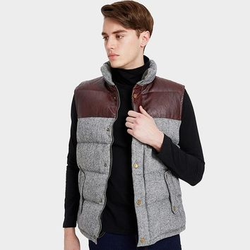Men High end Thick Down Vest Men Winter Coat Vest Down Man Clothing Casual Waistcoat