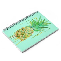 Pineapple Drip Spiral Notebook - Ruled Line