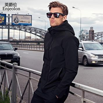 hoodies Bomber jackets coat men fashion black solid Men coats clothing hooded Jacket Men clothes