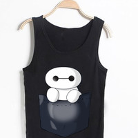 baymax on pocket awesome tanktop