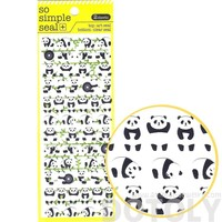 Adorable Panda Bear and Bamboo Shaped Animal Themed Stickers | 2 Sheets