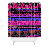 Lisa Argyropoulos Ocean T Neon Shower Curtain