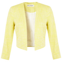 Yellow Boucle Jacket - Clothing - New In