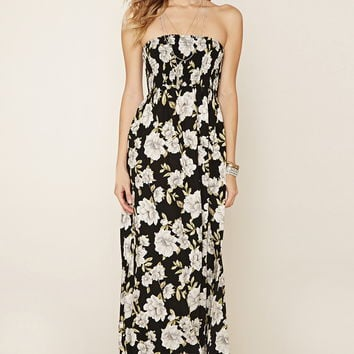 Strapless Floral Maxi Dress | Forever 21 - 2000177727