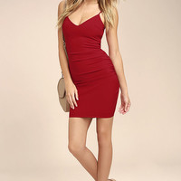 Au Courant Red Bodycon Dress