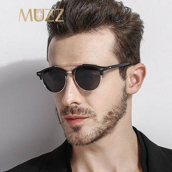 MUZZ Fashion Spied Sunglasses Luxury Brand Designer Men Sunglasses Men's Reflective Coating Sunglasses Male UV400 Gafas De Sol