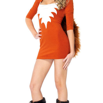 Foxy Roxy Half Sleeve Mini Bodycon Dress Costume Set