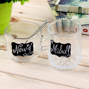 36pieces Fancy Mason Jar Wedding Chalkboard Labels , Wine Glass Drink Cup Label diy Reception Decoration idea High Quality
