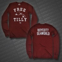 Free Tilly Maroon Thermal : PETA : MerchNOW