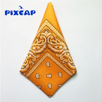 New Fashion Hip-Pop Square Paisley Bandanas Double Sided Head Wrap Scarf Wristband Multicolor Men Women Headbands