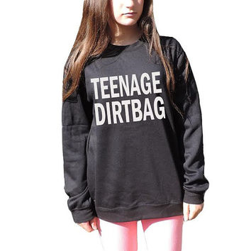 Teenage Dirtbag Sweatshirt One direction Sweater Unisex crewneck 1D harry styles Lyrics Inspired band t shirt Hipster