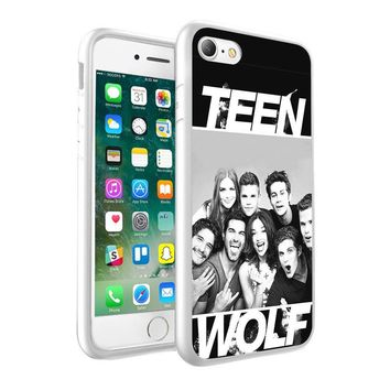 Teen Wolf Design Printed Hard Case Cover + Glass for Various Mobile Phones - 006
