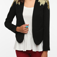 Urban Outfitters - Sparkle & Fade Embroidered Leaves Blazer