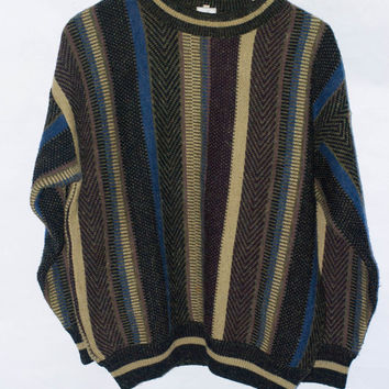 Vintage OP Ocean Pacific Ski Surf Sweater Men's Crewneck Sweater/Pullover. Size 38/M