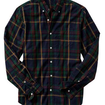 Gap Men Factory Twill Plaid Shirt