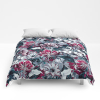 Botanical Blue Comforters by RIZA PEKER