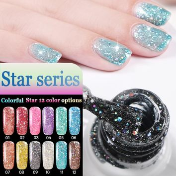 CNDSE10ML UV Gel Nail Polish Colorful  Long-Lasting Soak-Off Led Gel Lak Lacquer Nail Gel Manicure Varnish Nail Art Gelpolish