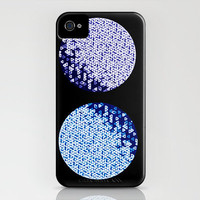 iPhone 4 Case - Once in a Purple and Blue Moon - unique iPhone case, art iPhone case, hipster iphone case, iphone 4 case