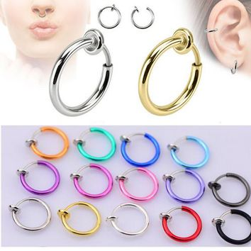 2pcs. Colorful Fake Nose Ring