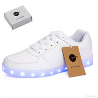 LED Light Up Shoes Fashion Sneaker for Men Women Kids Child Boy Girls Slip-on with 11 Color Modes lot drop shipping