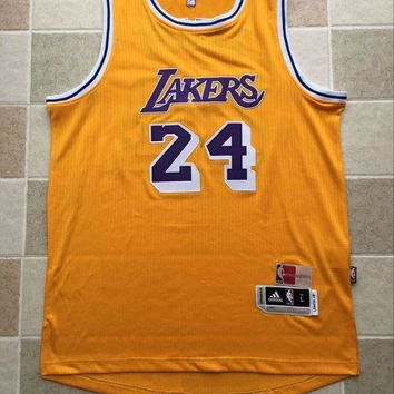 KUYOU Los Angeles Lakers Kobe Bryant  Retro Yellow 100% Authentic Jersey