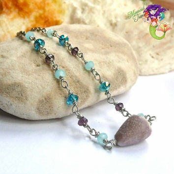 Seashell Anklet made in Hawaii, shell ankle bracelet for beach brides Hawaiian jewelry by Mermaid Tears