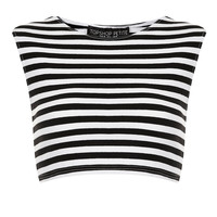 Petite Stripe Stretch Crop Top - New In This Week - New In - Topshop