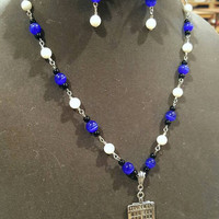 Doctor Who Police Box Jewelry Set