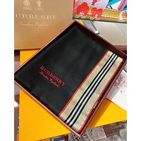 Burberry Fashion New Embroidery Letter Scarf Women No Box Black