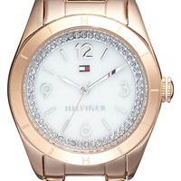 Women's Tommy Hilfiger Semiprecious Stone Dial Bracelet Watch, 30mm - Rose Gold